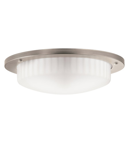 Kichler Lighting Athenos 2 Light Fluorescent Flush Mount in Antique Pewter 10894AP photo
