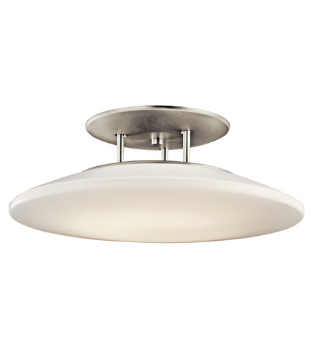 Kichler Lighting Signature 1 Light Fluorescent Semi Flush in Brushed Nickel 10898NI