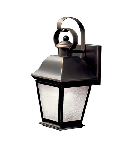Kichler Lighting Mount Vernon 1 Light Fluorescent Outdoor Wall Lantern in Olde Bronze 10907OZ photo