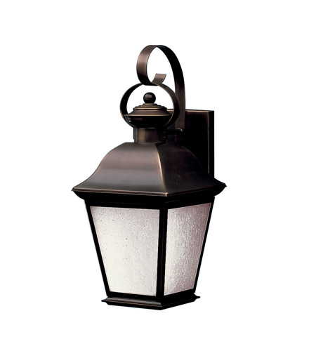 Kichler Lighting Mount Vernon 1 Light Fluorescent Outdoor Wall Lantern in Olde Bronze 10908OZ photo