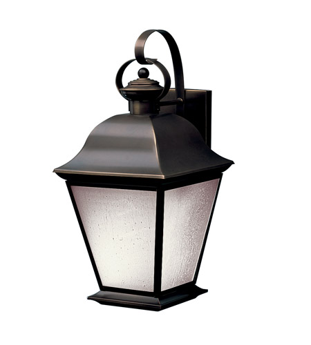 Kichler Lighting Mount Vernon 1 Light Fluorescent Outdoor Wall Lantern in Olde Bronze 10909OZ