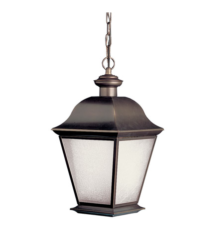 Kichler Lighting Mount Vernon 1 Light Fluorescent Outdoor Ceiling in Olde Bronze 10910OZ photo