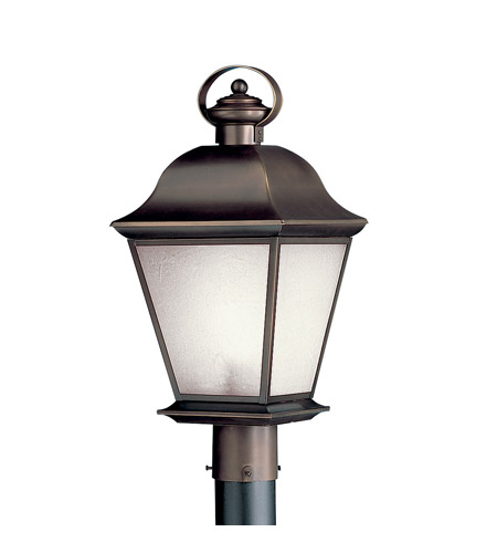 Kichler Lighting Mount Vernon 1 Light Fluorescent Outdoor Post in Olde Bronze 10911OZ photo