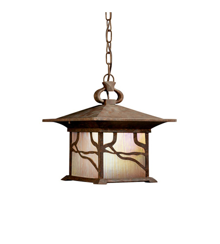 Kichler Lighting Morris 1 Light Fluorescent Outdoor Ceiling in Distressed Copper 10921DCO photo