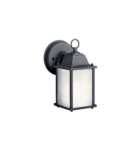Kichler 10923BK Signature 1 Light 9 inch Black Fluorescent Outdoor Wall Lantern photo
