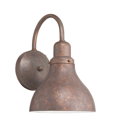 Kichler Lighting Signature 1 Light Fluorescent Outdoor Wall Lantern in Distressed Copper 10925DCO photo