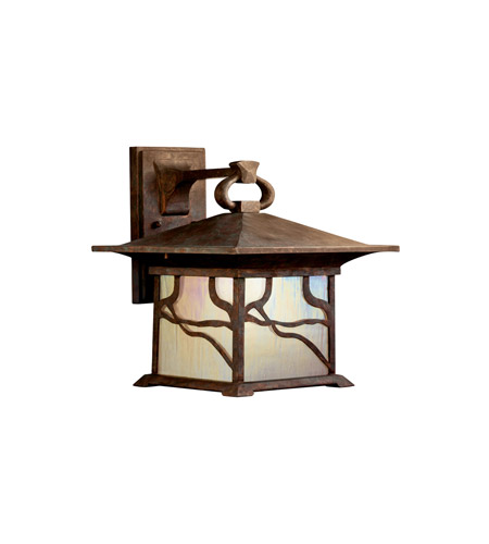 Kichler Lighting Morris 1 Light Fluorescent Outdoor Wall Lantern in Distressed Copper 10930DCO photo