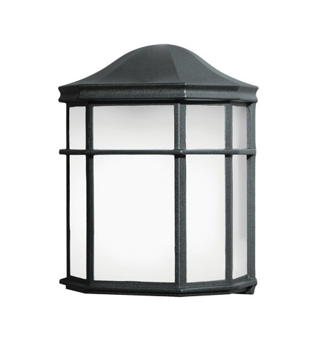 Kichler Lighting Signature 1 Light Fluorescent Outdoor Wall Lantern in Black (Painted) 10941BK