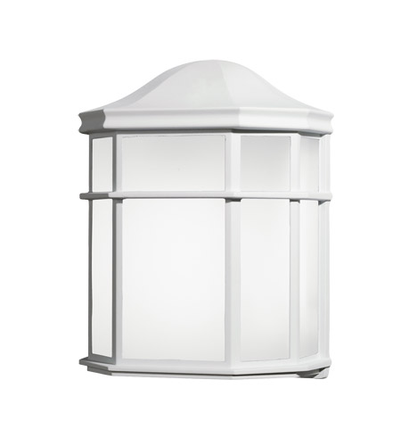 Kichler Lighting Signature 1 Light Fluorescent Outdoor Wall Lantern in White 10941WH