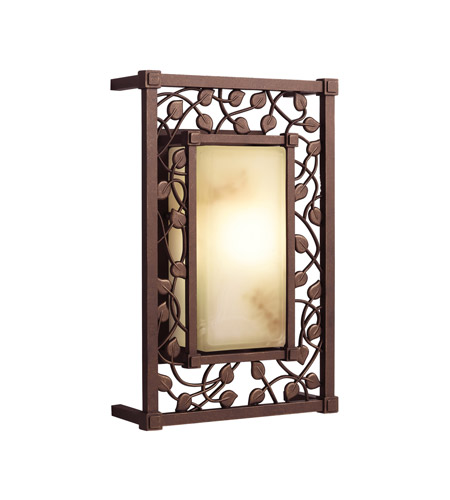 Kichler Lighting Tuscana 1 Light Fluorescent Outdoor Wall Lantern in Legacy Bronze 10992LZ photo