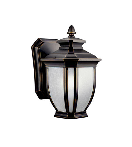 Kichler 11001RZ Salisbury 1 Light 10 inch Rubbed Bronze Fluorescent Outdoor Wall Lantern photo