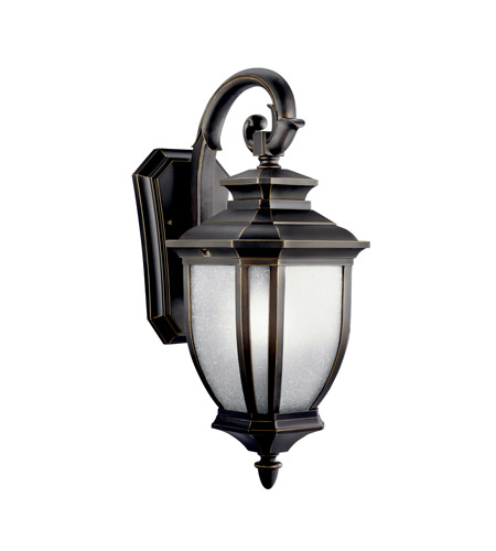 Kichler 11002RZ Salisbury 1 Light 19 inch Rubbed Bronze Fluorescent Outdoor Wall Lantern photo