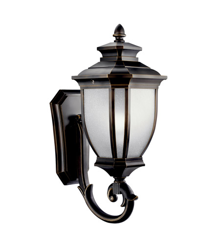 Kichler Lighting Salisbury 1 Light Fluorescent Outdoor Wall Lantern in Rubbed Bronze 11004RZ
