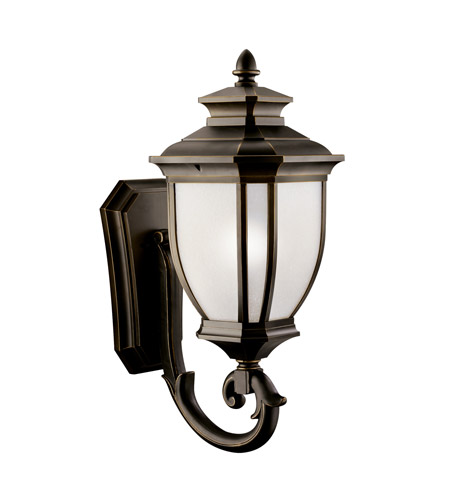 Kichler 11005RZ Salisbury 1 Light 29 inch Rubbed Bronze Fluorescent Outdoor Wall Lantern photo