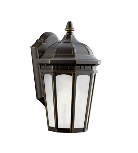 Kichler 11010RZ Courtyard 1 Light 11 inch Rubbed Bronze Fluorescent Outdoor Wall Lantern photo