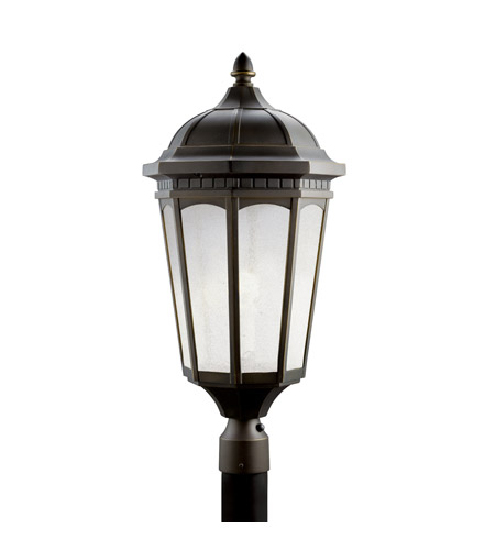 Kichler Lighting Courtyard 1 Light Fluorescent Outdoor Post in Rubbed Bronze 11015RZ photo