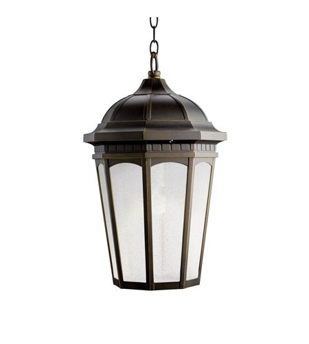 Kichler 11016RZ Courtyard 1 Light 12 inch Rubbed Bronze Fluorescent Outdoor Ceiling photo