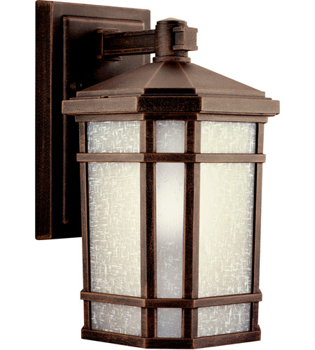 Kichler Lighting Cameron 1 Light Fluorescent Outdoor Wall Lantern in Prairie Rock 11017PR