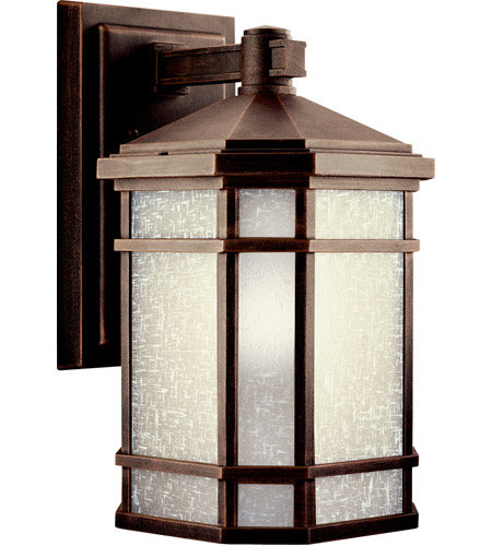 Kichler 11018PR Cameron 1 Light 14 inch Prairie Rock Fluorescent Outdoor Wall Lantern photo