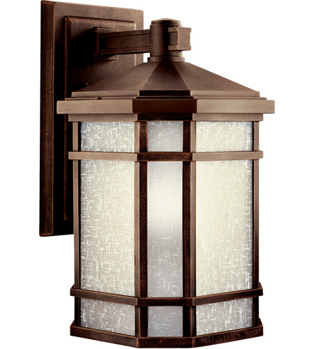Kichler 11019PR Cameron 1 Light 17 inch Prairie Rock Fluorescent Outdoor Wall Lantern photo