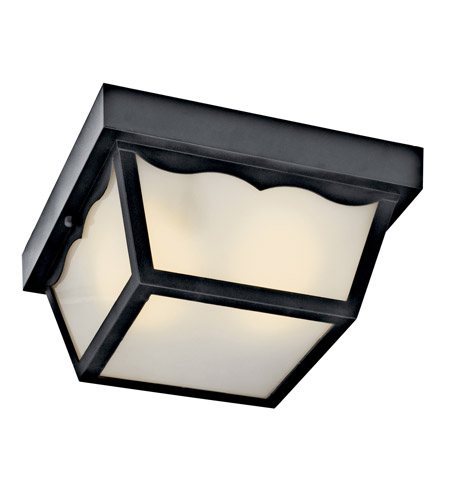 Kichler Lighting Signature 1 Light Fluorescent Outdoor Ceiling in Black (Painted) 11026BK