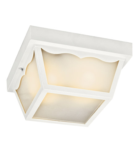 Kichler Lighting Signature 1 Light Fluorescent Outdoor Ceiling in White 11026WH photo