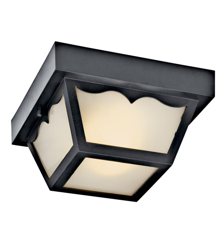Kichler Lighting Signature 2 Light Fluorescent Outdoor Ceiling in Black 11027BK