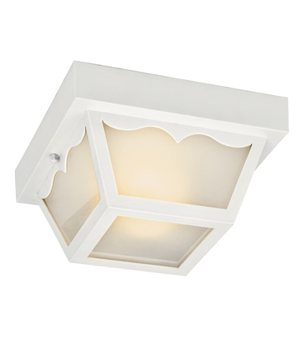 Kichler Lighting Signature 2 Light Fluorescent Outdoor Ceiling in White 11027WH