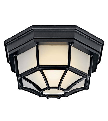 Kichler Lighting Signature 1 Light Fluorescent Outdoor Ceiling in Black 11028BK photo