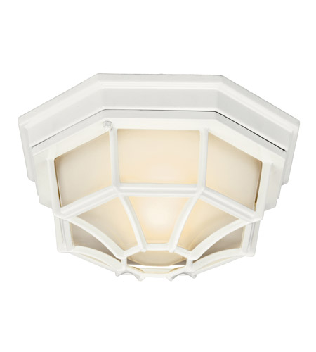 Kichler Lighting Signature 1 Light Fluorescent Outdoor Ceiling in White 11028WH