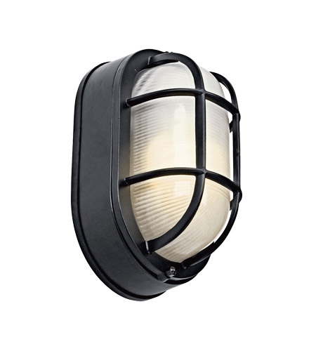 Kichler Lighting Signature 1 Light Fluorescent Outdoor Wall Lantern in Black (Painted) 11029BK