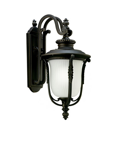 Kichler Lighting Luverne 1 Light Fluorescent Outdoor Wall Lantern in Rubbed Bronze 11031RZ photo