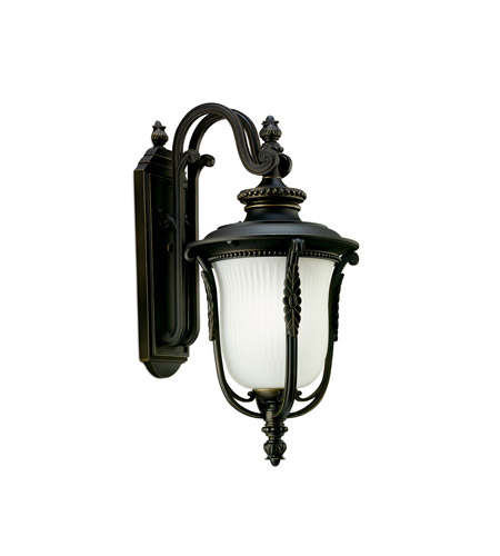 Kichler Lighting Luverne 1 Light Fluorescent Outdoor Wall Lantern in Rubbed Bronze 11032RZ
