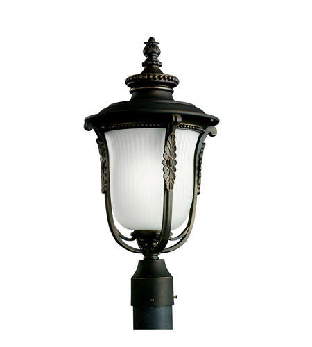 Kichler Lighting Luverne 1 Light Fluorescent Outdoor Post in Rubbed Bronze 11035RZ