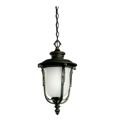 Kichler Lighting Luverne 1 Light Fluorescent Outdoor Ceiling in Rubbed Bronze 11037RZ
