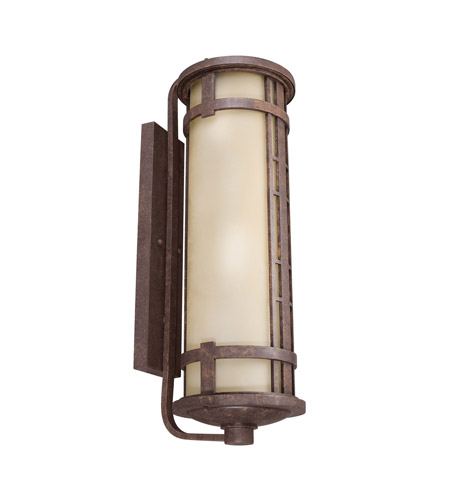 Kichler Lighting Aged Prairie 4 Light Fluorescent Outdoor Wall Lantern in Aged Bronze 11039AGZ photo