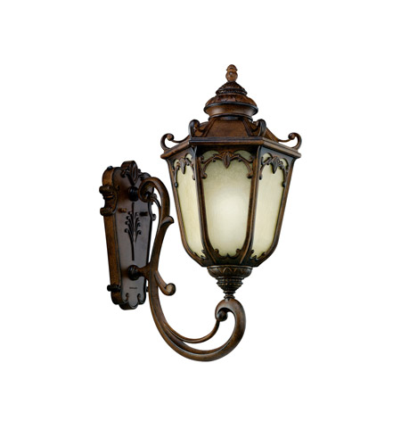 Kichler Lighting McCullam 1 Light Fluorescent Outdoor Wall Lantern in Brown Stone 11049BST photo