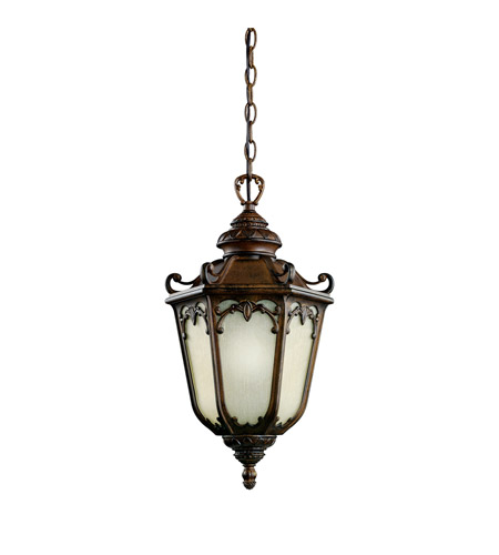 Kichler Lighting McCullam 1 Light Fluorescent Outdoor Ceiling in Brown Stone 11050BST
