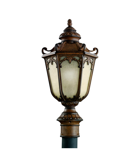 Kichler Lighting McCullam 1 Light Fluorescent Outdoor Post in Brown Stone 11051BST