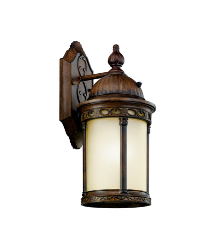Kichler Lighting Corunna 1 Light Fluorescent Outdoor Wall Lantern in Brown Stone 11053BST photo
