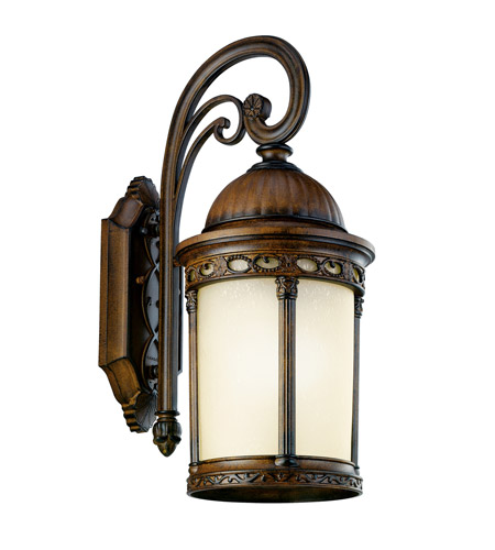 Kichler Lighting Corunna 1 Light Fluorescent Outdoor Wall Lantern in Brown Stone 11054BST photo