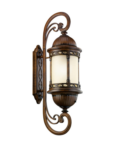 Kichler Lighting Corunna 1 Light Fluorescent Outdoor Wall Lantern in Brown Stone 11056BST