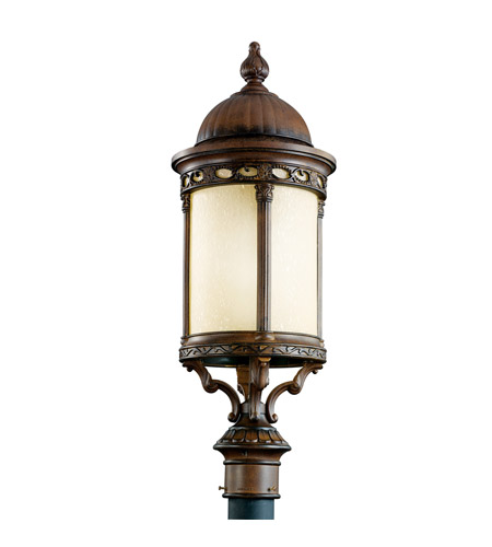 Kichler Lighting Corunna 1 Light Fluorescent Outdoor Post in Brown Stone 11057BST photo