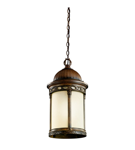 Kichler Lighting Corunna 1 Light Fluorescent Outdoor Ceiling in Brown Stone 11058BST