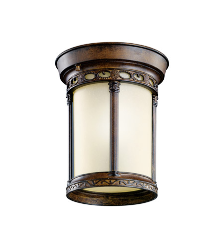 Kichler Lighting Corunna 1 Light Fluorescent Outdoor Ceiling in Brown Stone 11059BST