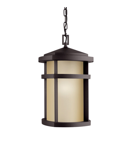 Kichler Lighting Lantana 1 Light Fluorescent Outdoor Ceiling in Architectural Bronze 11066AZ
