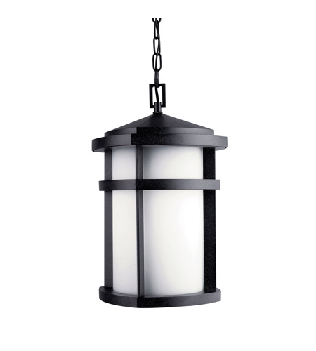 Kichler Lighting Lantana 1 Light Fluorescent Outdoor Ceiling in Textured Granite 11066GNT