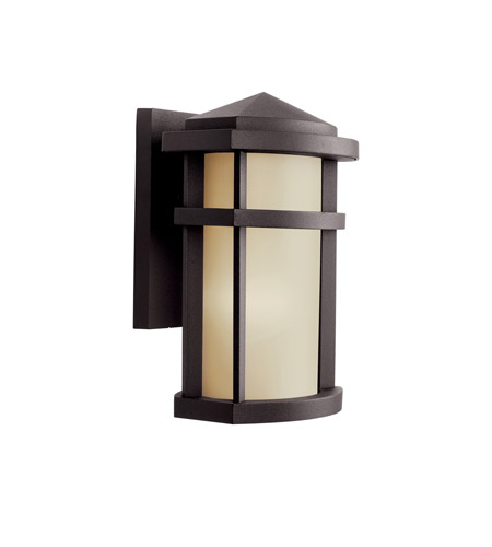 Kichler Lighting Lantana 1 Light Fluorescent Outdoor Wall Light in Architectural Bronze 11067AZ