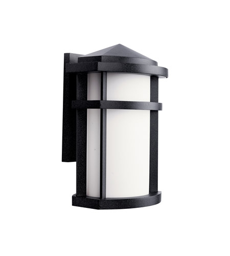 Kichler Lighting Lantana 1 Light Fluorescent Outdoor Wall Lantern in Textured Granite 11068GNT