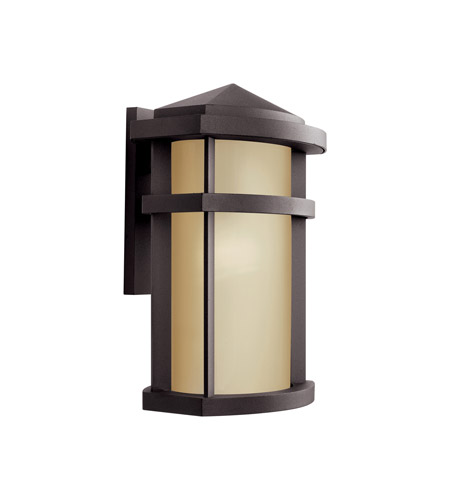 Kichler 11069AZ Lantana 1 Light 15 inch Architectural Bronze Outdoor Wall Light photo